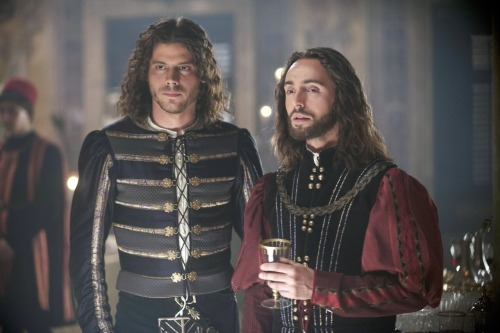 amongablazeoflights:  Francois Arnaud and David Dawson in The Borgias