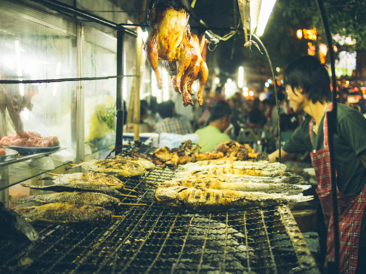 Grilled food on the streets of Bangkok