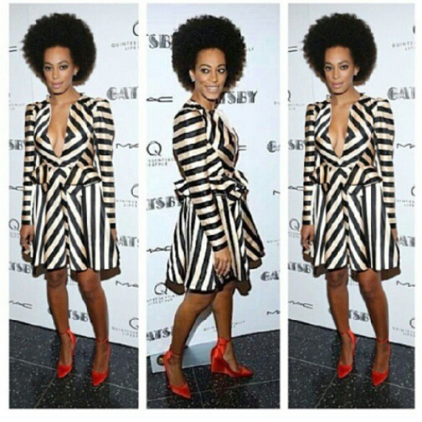 Yes, yes aaannnd yes!! #Solange #GreatGatsbyPremier #blackandwhite #fashion via @lovebrownsugar