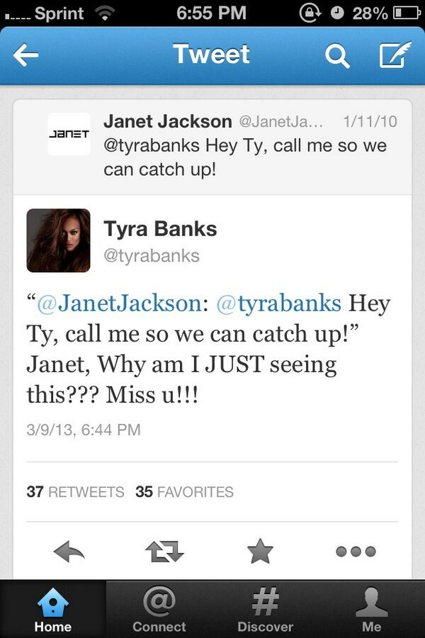 Janet Jackson - CRYING because Tyra responded three years later to Janet Jackson. Lmfao