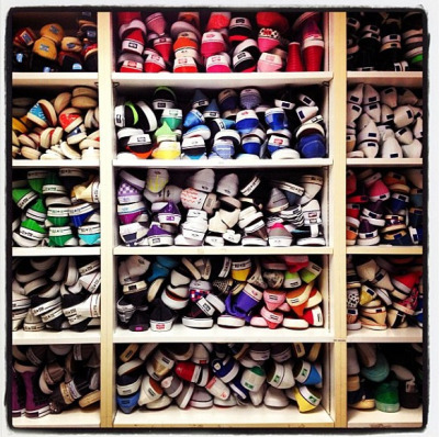 teenvogue:  Sneaker heaven in Teen Vogue's fashion closet.