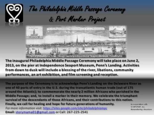 Ancestral Remembrance Day - June 2 - Philadelphia, PA | The Philadelphia Middle Passage Ceremony (via Philadelphia Middle Passage Ceremony & Port Marker Project)