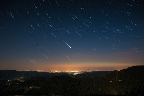 rawbdz:  Startrails, 60x 25sec., BlackForest Germany