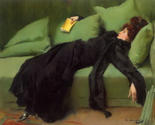 huariqueje:Young Lady After the Ball - Ramon Casas i Carbó 1895Museo de la Abadía de Montserrat, Barcelona