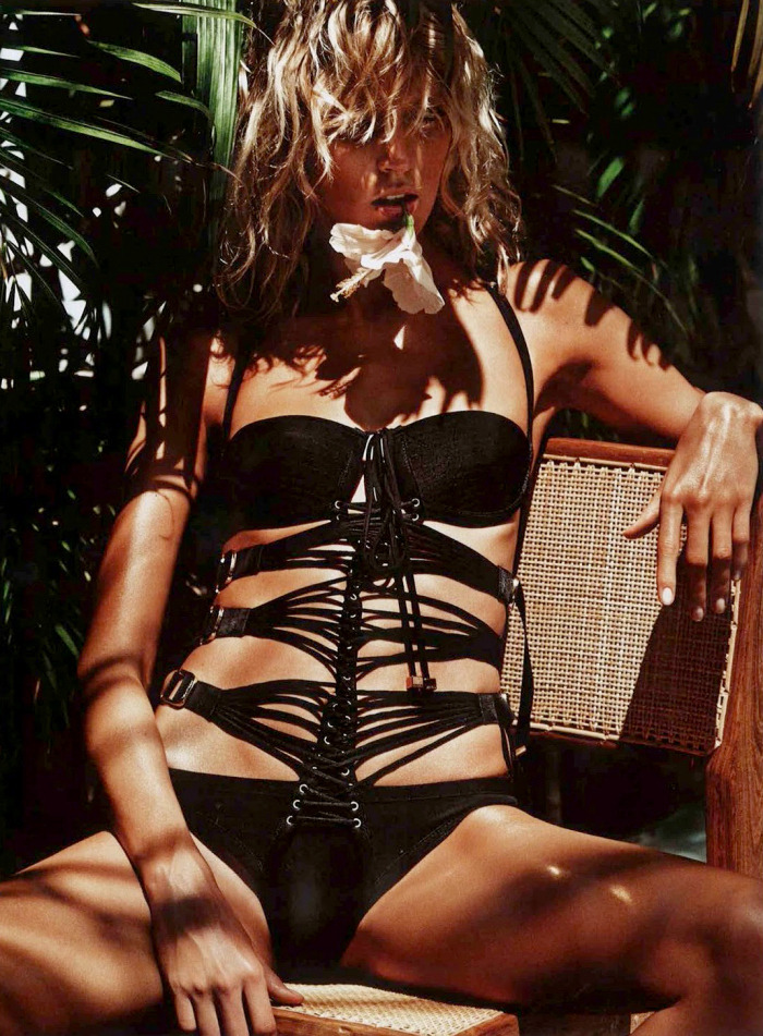 "stormtrooperfashion:  Anja Rubik in ""Sauvage"" by Mario Sorrenti for Vogue Paris, July 2013"