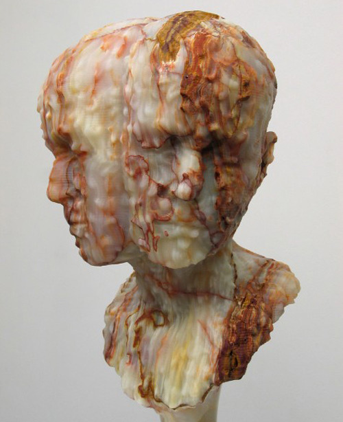 Dual Portrait Sculpture by Barry X Ball
