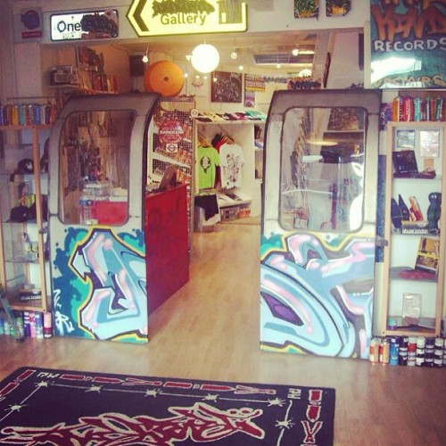 rarekindlondon:  The RK Gallery Brighton. 2003-2009.. I loved my tube doors! The UK's 1st Graffiti Art Gallery..  …I did a lot of learning there :)