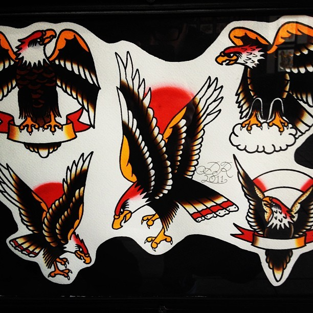 Who wants to get an eagle tonight? #tattoo #tattooflash #eagles #rad