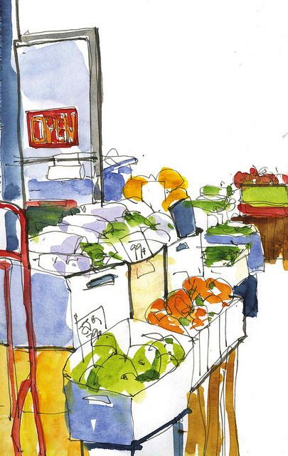 danforth:  PRODUCE MARKET by gus mcduffie on Flickr.
