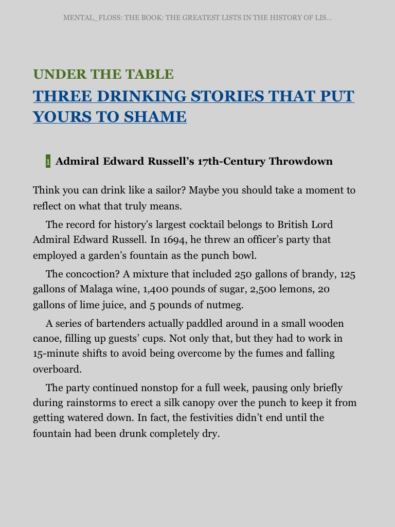 Sounds like a Gatsby stunt. Source: mental_floss Book of Listory