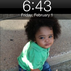 day 1: screen lock #babybrother #curlypoofball #mymunchkin
