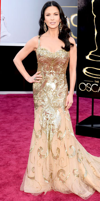 sampaguitanyc:  OSCARS 2013 RED CARPET:  Catherine Zeta-Jones in a Zuhair Murad gown …