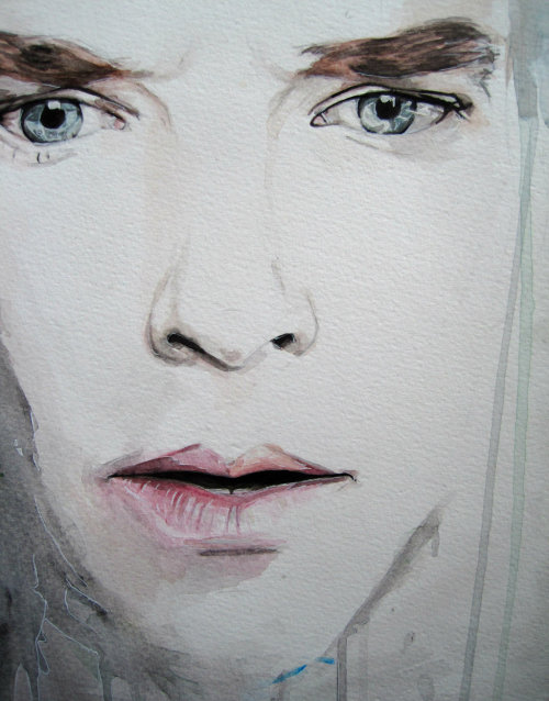 willietheplaidjacket:  Sherlock watercolour by ~NotHigh