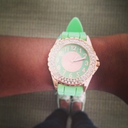New watch #mint #rosegold #jewelry #fashion