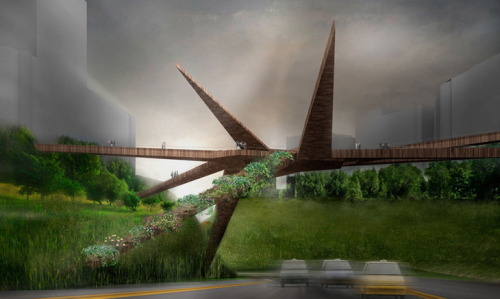 Miraflores-Barranco Pedestrian Bridge by OOIIO Architecture