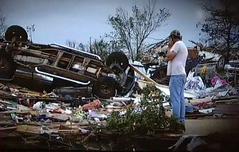 91 dead in Oklahoma City suburbs from mile-wide tornado (video) At least 91 people are dead, including 40 children, after a record-breaking tornado tore through the Oklahoma City suburb of Moore. Hundreds of buildings were destroyed including two schools.Read more: http://www.digitaljournal.com/article/350523