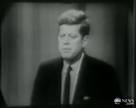 On this day in 1961, John F. Kennedy became the first President to hold a live televised news conference