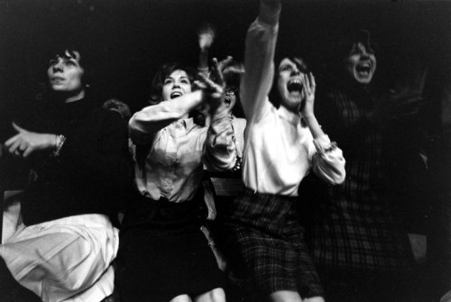 paulmctartney:  Fans at the first Beatles concert in America, Washington, DC, Febuary 11, 1964
