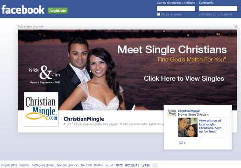 Funny add that pops up after I log off Facebook.