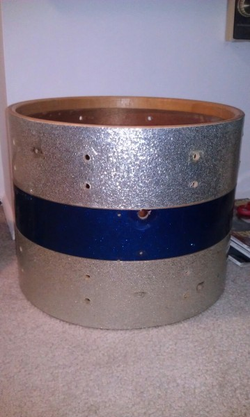 "The start to my latest snare project. 15"" Slingerland marching shell from eBay. Stay tuned!"