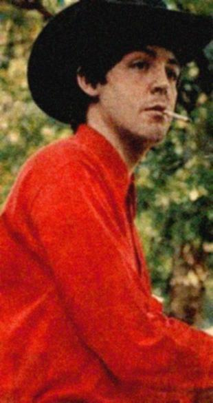 Paul McCartney + cowboy hat