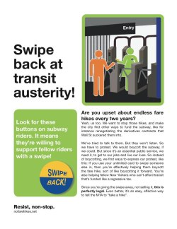Love this!Swipe back at MTA fare hikes. Make Wall Street pay, not transit riders!