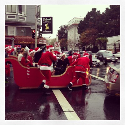This is San Francisco's Santacon summed up in one picture.