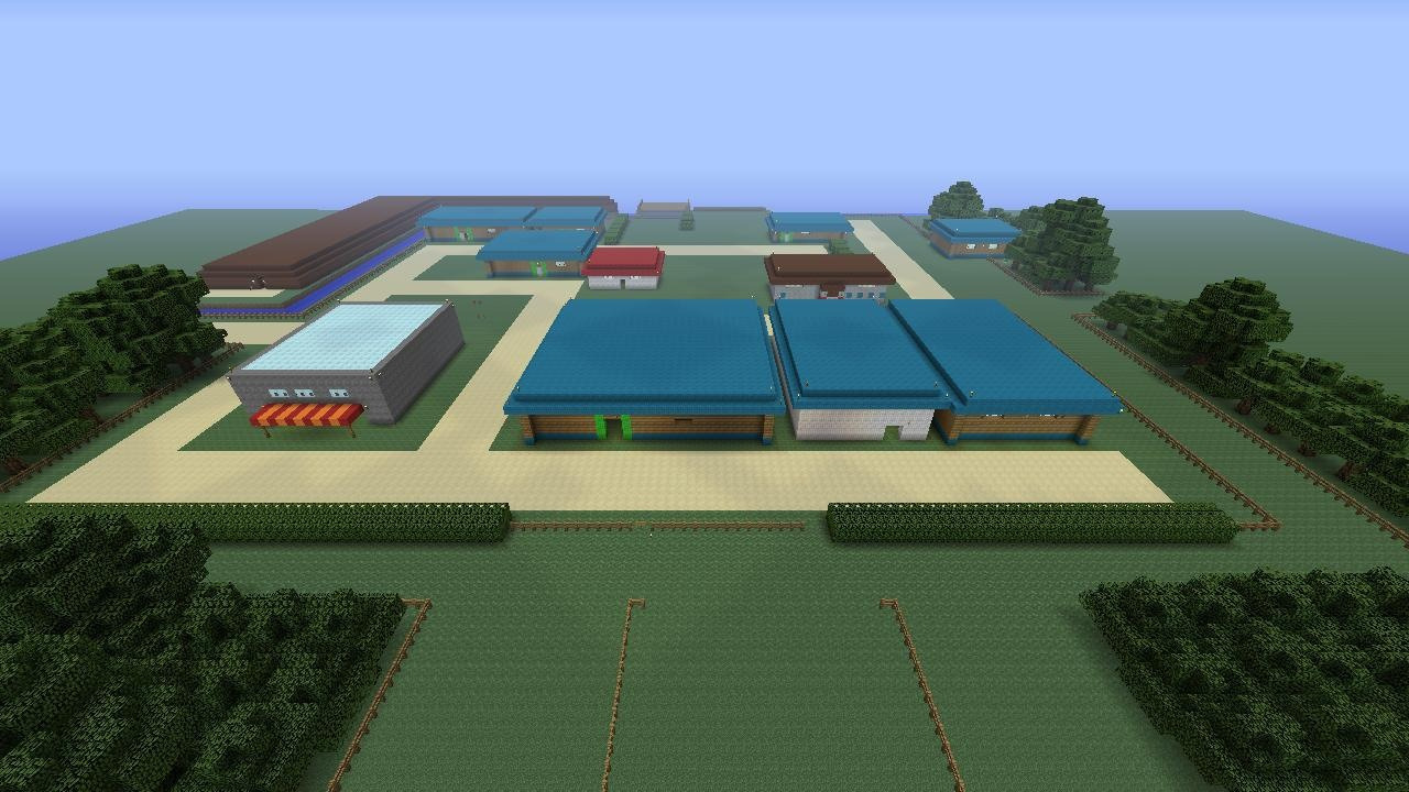 Cerulean city recreated in minecraft