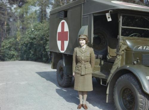 Queen Elizabeth II in Auxiliary Territorial Service uniform, April 1945
