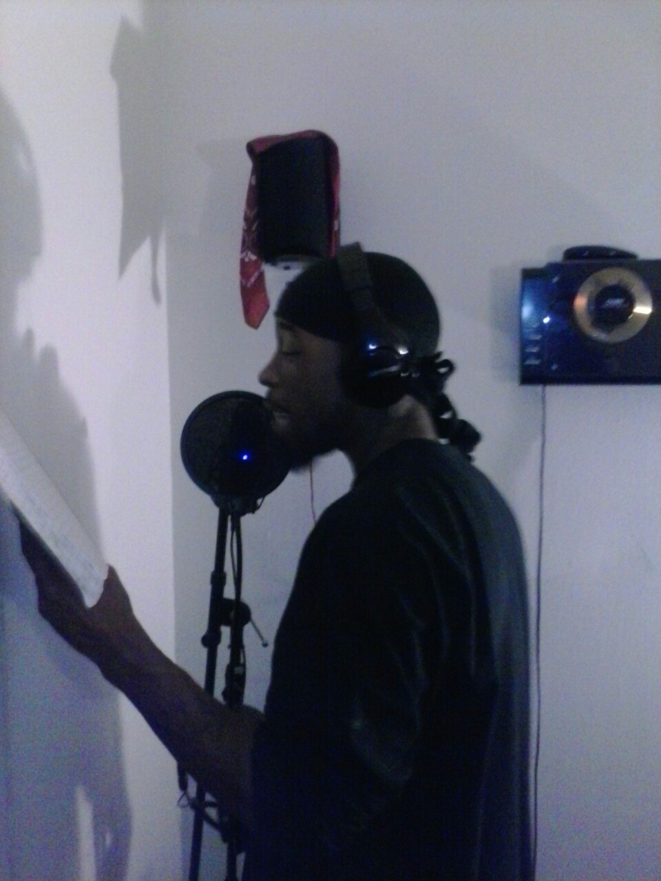My brotha in rhyme Christilez in the booth puttin in work!!!