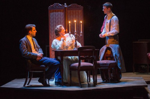 theglassmenagerie-boston:  Zachary Quinto, Cherry Jones and Brian J. Smith (Photo: Michael J. Lutch)