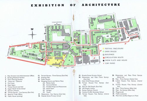 Plan of Lansbury 'Live Architecture' Exhibition, Poplar 1952