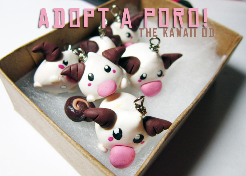 thekawaiiod:  3rd gen poro charms Handmade at my shop and ready to send! Poro charms here @ thekawaiiod/etsy.com