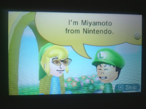 Miyamoto special street pass. Green hats for the win.
