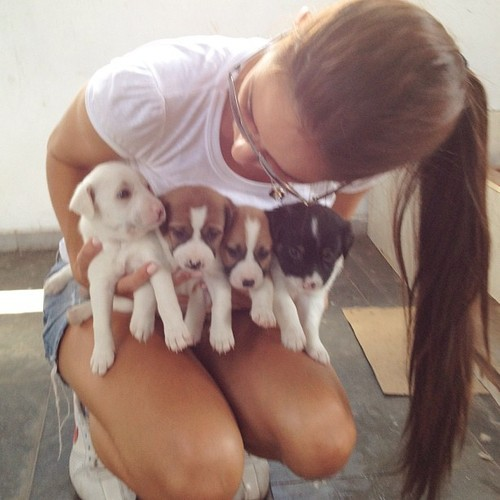 when in doubt, get her puppies or kittens Capt.