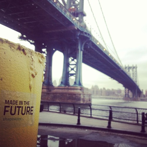 #madeinthefuture #nyc #dumbo @shapeways