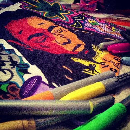 #lilwayne #weezy #drawing #sharpies #bicmarkit #fun #creative #crafts #crafty #art #artsy #tippy #colorful #portrait #celebrity #fanart