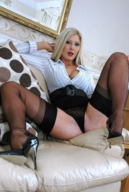 high heel and nylons
