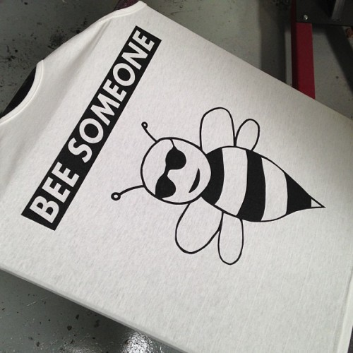 Bee Someone #merchasylum #screenprint #printing #screenprinting #tshirtprinting #highquality #uk #wales #southwales #cardiff #embroidery #fashion #pompom #beanies #vinyl #stickers #relabelling #detagging #cutandsew #customprints #print #ink
