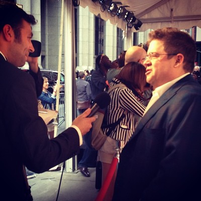 Our host @PattonOswalt on the #webbys red carpet (at Cipriani)