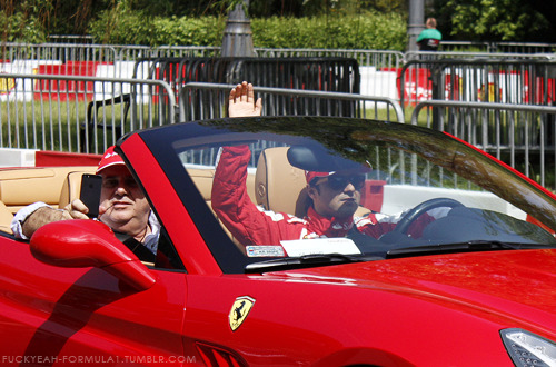 Felipe Massa and his dad in Warsaw, 18 May 2013  Varshava?
