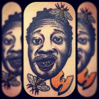 Ol' Dirty Bastard of WuTang done by David Flores of Soul Expressions Tattoo in Murrieta, CA (asthecollective)
