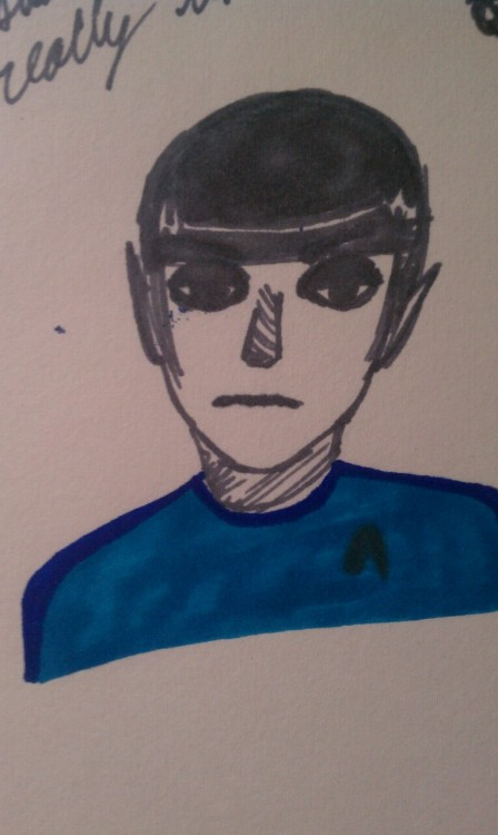 wherethesedemonshide:  So I like drawing Spock now.