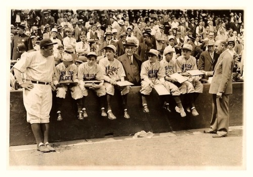 "80 Years Ago Today! Yankee Stadium - May 20, 1933 ""Orphans Honored, See Ruth Play And Everything"" ""It was a day of days for the six orphan kiddies from Passaic, N.J. who flagged an Erie train awhile ago and probably saved hundreds of commuters from death or injury in a track washout. They were invited to the Yankee Stadium, May 20, to see the great Babe Ruth himself play…"""