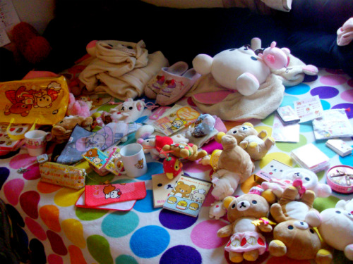 Rilakkuma/Korilakkuma collection before being laid out nicely~ organized version here!