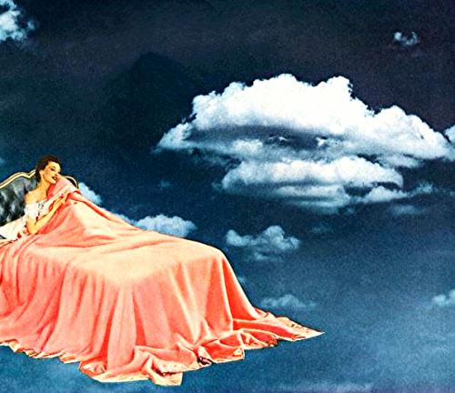 vintage advertising dreamscape vintage bedroom 1950s vintage illustration