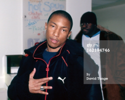 This is the oldest photo of Pharrell on Getty Images.