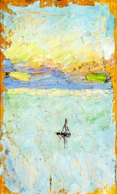 bofransson:  Wassily Kandinsky, Sailboat at Sea, 1902