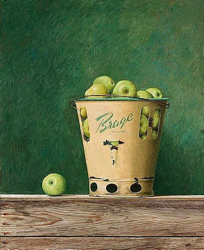 Philip von Schantz Still Life with Apples in Brage Bucket 1981