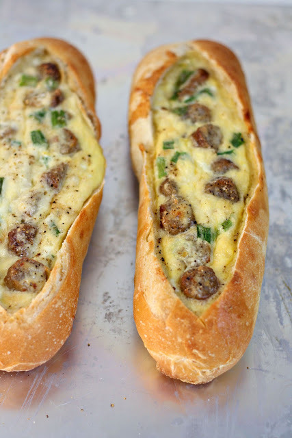 Sausage egg boats